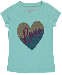 "Colette Lilly Little Girls' ""Color-Blocked Love"" T-Shirt (Sizes 4 – 6X) - CookiesKids.com"