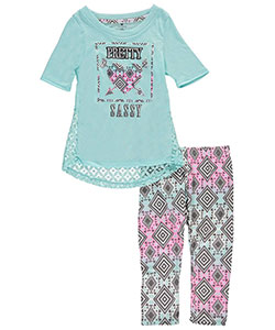 "One Step Up Little Girls' ""Pretty Sassy"" 2-Piece Outfit (Sizes 4 – 6X) - CookiesKids.com"