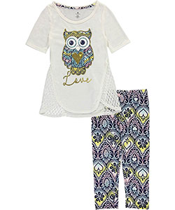 "One Step Up Big Girls' ""Golden Hour"" 2-Piece Outfit (Sizes 7 – 16) - CookiesKids.com"