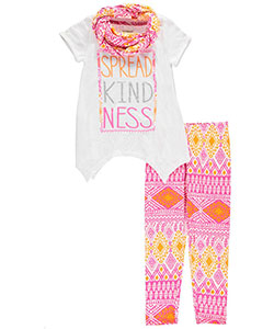 "One Step Up Big Girls' ""Spread Kindness"" 3-Piece Outfit (Sizes 7 – 16) - CookiesKids.com"