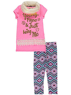 "One Step Up Big Girls' ""Just Being Me"" 3-Piece Outfit (Sizes 7 – 16) - CookiesKids.com"