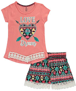 "One Step Up Big Girls' ""Love Dream"" 2-Piece Outfit (Sizes 7 – 16) - CookiesKids.com"