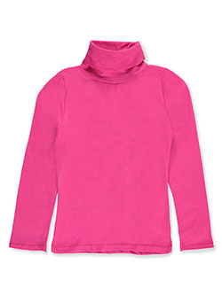 Qtee Big Girls' L/S Turtleneck (Sizes 7 – 16) - CookiesKids.com