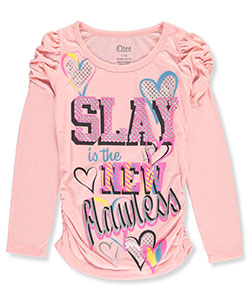 Qtee Big Girls' L/S Top (Sizes 7 – 16) - CookiesKids.com