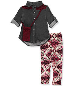 One Step Up Little Girls' 2-Piece Outfit with Purse (Sizes 4 – 6X) - CookiesKids.com