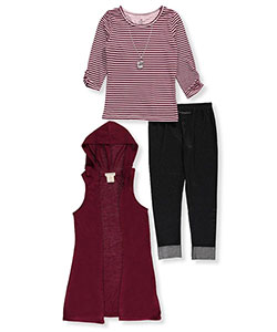 One Step Up Big Girls' 3-Piece Outfit with Necklace (Sizes 7 – 16) - CookiesKids.com