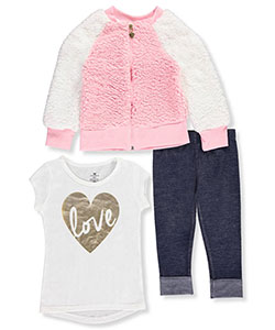 One Step Up Little Girls' 3-Piece Outfit (Sizes 4 – 6X) - CookiesKids.com