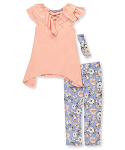 One Step Up Girls' 2-Piece Outfit with Headband - CookiesKids.com
