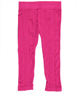 "Star Ride Little Girls' Toddler ""Zigzag Cable"" Leggings (Sizes 2T – 4T) - CookiesKids.com"