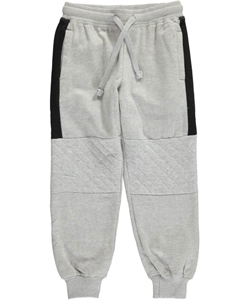 "Panyc Little Boys' ""Quilt Knees"" Joggers (Sizes 4 – 7) - CookiesKids.com"