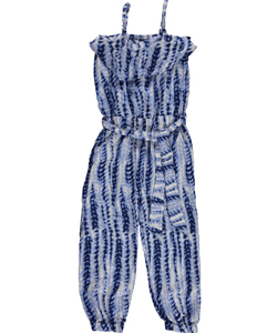 "Star Ride Little Girls' ""Tie-Dye Stripe"" Jumpsuit (Sizes 4 – 6X) - CookiesKids.com"