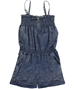 "Paris Blues Big Girls' ""Double Shirring"" Romper (Sizes 7 – 16) - CookiesKids.com"