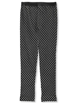 "Star Ride Big Girls' ""Chain-Link Fleece"" Leggings (Sizes 7 – 16) - CookiesKids.com"