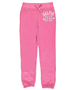 "Star Ride Big Girls' ""Selfie 86"" Joggers (Sizes 7 – 16) - CookiesKids.com"