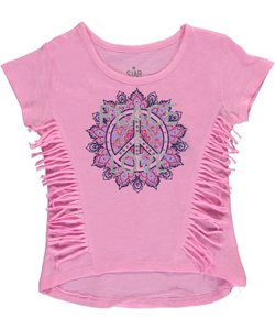 "Star Ride Little Girls' ""Peace & Love"" Top (Sizes 4 – 6X) - CookiesKids.com"