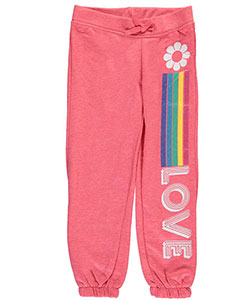 "Star Ride Little Girls' ""Flower Love"" Joggers (Sizes 4 – 6X) - CookiesKids.com"