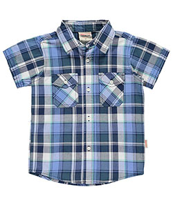 "Smith's American Little Boys' Toddler ""Mansfield"" Button-Down Shirt (Sizes 2T – 4T) - CookiesKids.com"