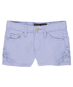 "Star Ride Little Girls' ""Crocheted Twill"" Short Shorts (Sizes 4 – 6X) - CookiesKids.com"