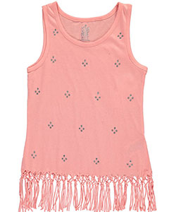 "Star Ride Big Girls ""Bejeweled & Fringed"" Tank Top (Sizes 7 – 16) - CookiesKids.com"