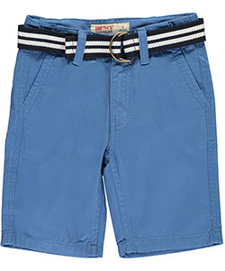 "Smith's American Little Boys' ""Upper Deck"" Belted Twill Shorts (Sizes 4 – 7) - CookiesKids.com"