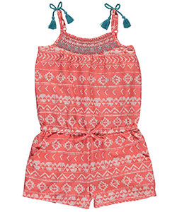 "Star Ride Big Girls' ""Shirred & Tasseled"" Romper (Sizes 7 – 16) - CookiesKids.com"