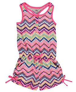 "Star Ride Little Girls' Toddler ""Rainbow Glow"" Romper (Sizes 2T – 4T) - CookiesKids.com"