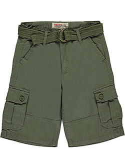 "Smith's American Big Boys' ""Button & Snap"" Belted Cargo Shorts (Sizes 8 – 20) - CookiesKids.com"
