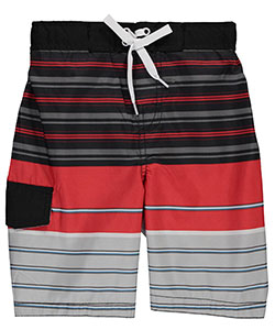 "Smith's American Little Boys' ""Lined Stripes"" Boardshorts (Sizes 4 – 7) - CookiesKids.com"