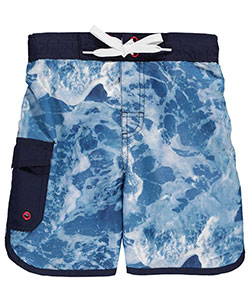 "Smith's American Little Boys' ""Dolphin Seafoam"" Boardshorts (Sizes 4 – 7) - CookiesKids.com"