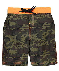 "Smith's American Big Boys' ""Lined Camo"" Boardshorts (Sizes 8 – 20) - CookiesKids.com"