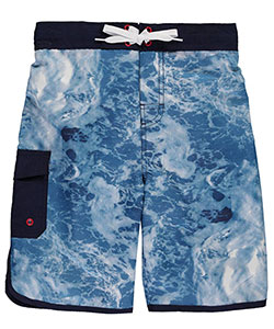 "Smith's American Big Boys' ""Dolphin Seafoam"" Boardshorts (Sizes 8 – 20) - CookiesKids.com"