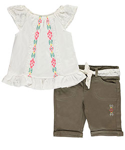 "Star Ride Little Girls' Toddler ""High Plains"" 2-Piece Outfit (Sizes 2T – 4T) - CookiesKids.com"