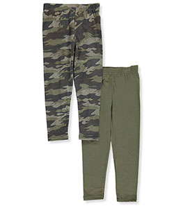 "Star Ride Little Girls' ""Solid & Camo"" 2-Pack Leggings (Sizes 4 – 6X) - CookiesKids.com"
