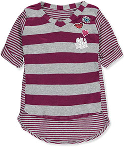 "Star Ride Little Girls' ""Wink, Wink"" V-Neck Top (Sizes 4 – 6X) - CookiesKids.com"
