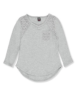 "Star Ride Little Girls' ""Everlace"" L/S Top (Sizes 4 – 6X) - CookiesKids.com"