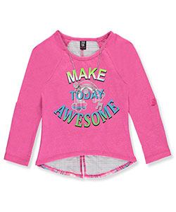 Star Ride Little Girls' L/S Top with Necklace(Sizes 4 – 6X) - CookiesKids.com