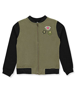Star Ride Little Girls' French Terry Varsity Jacket (Sizes 4 – 6X) - CookiesKids.com