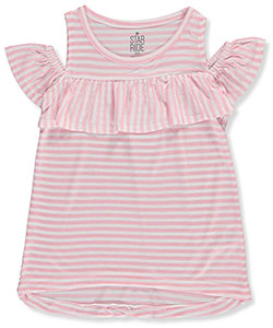 Star Ride Little Girls' Cold Shoulder Top (Sizes 4 – 6X) - CookiesKids.com