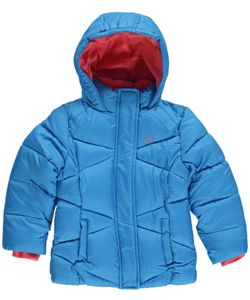 "Vertical '9 Little Girls' Toddler ""Crisscross Baffle"" Insulated Jacket (Sizes 2T – 4T) - CookiesKids.com"