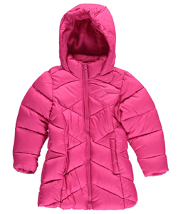"Vertical '9 Little Girls' ""Zigzag Baffle"" Insulated Parka (Sizes 4 – 6X) - CookiesKids.com"