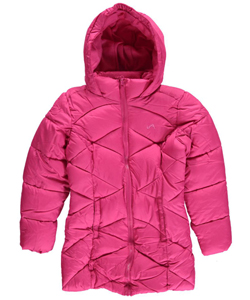 "Vertical '9 Big Girls' ""Zigzag Baffle"" Insulated Parka (Sizes 7 – 16) - CookiesKids.com"