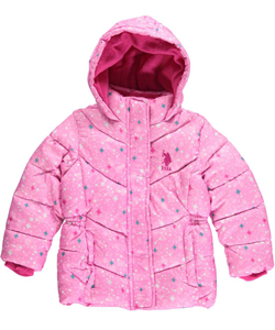 "U.S. Polo Assn. Little Girls' Toddler ""Starlight"" Insulated Jacket (Sizes 2T – 4T) - CookiesKids.com"