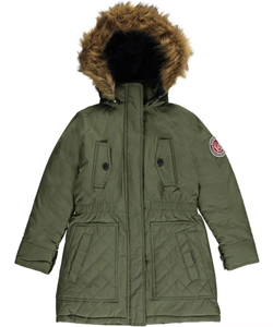 "Weatherproof Little Girls' ""Weather Expedition"" Insulated Parka (Sizes 4 – 6X) - CookiesKids.com"