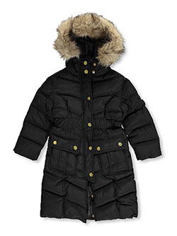 "Coogi Little Girls' ""Angled Baffle"" Insulated Parka (Sizes 4 – 6X) - CookiesKids.com"