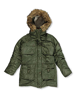 "Coogi Big Girls' ""Crest Button"" Insulated Parka (Sizes 7 – 16) - CookiesKids.com"
