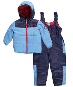 "U.S. Polo Assn. Little Boys' Toddler ""3 Insignia"" 2-Piece Snowsuit (Sizes 2T – 4T) - CookiesKids.com"