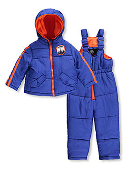 "Weatherproof Little Boys' Toddler ""Peak Patch"" 2-Piece Snowsuit (Sizes 2T – 4T) - CookiesKids.com"