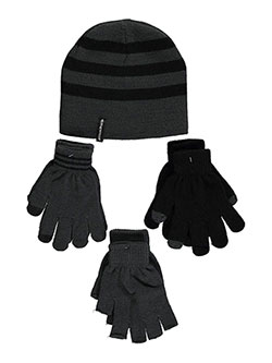"Weatherproof ""Contrast Stripe"" 3-Piece Winter Accessories Set (Youth One Size) - CookiesKids.com"