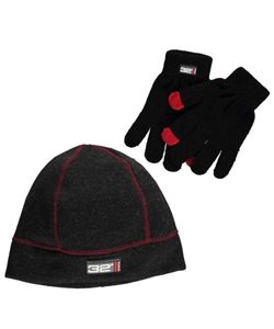 "Weatherproof ""32 Degrees"" Beanie & Gloves Set (Youth One Size) - CookiesKids.com"