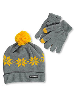"Weatherproof ""Electric Snowflake"" Beanie & Gloves Set (Youth One Size) - CookiesKids.com"